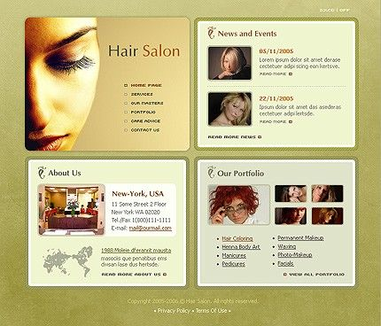 Hair Salon SWiSH Templates by Delta