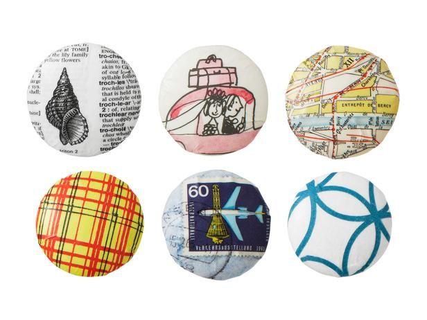 Patterned Drawer Knobs - DIY Decoupage Crafts on HGTV