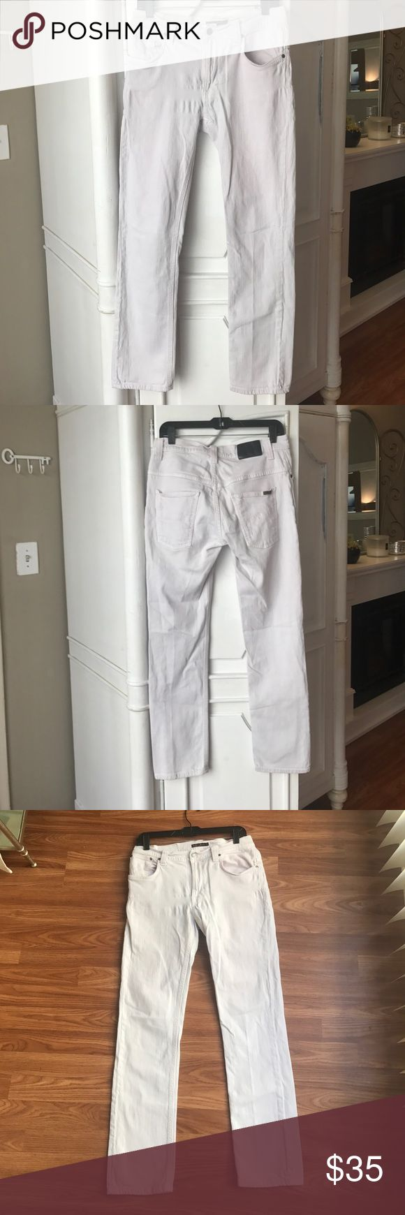 Men's White Nudie Jeans! Pre-loved.  Size 32. Nudie Jeans Jeans Straight