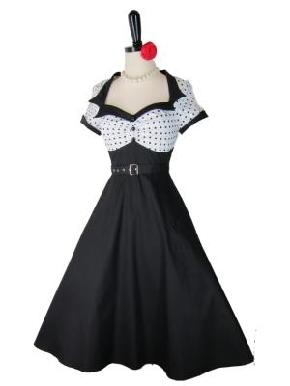 The Lulu~ Retro 1950s Style White Polka Dot Sailor Pinup Dress XL 14 16 . (WANTS)