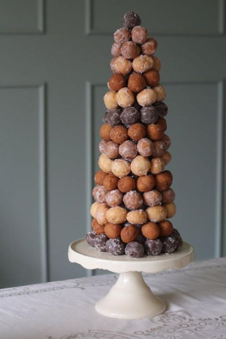 Elegant Munchkin Tower for a bridal shower