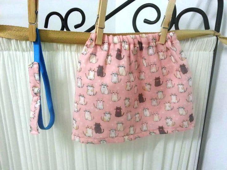 Baby skirt with headband, Japanese double gauze, cotton, soft, ooak, sale by UchiWraps on Etsy