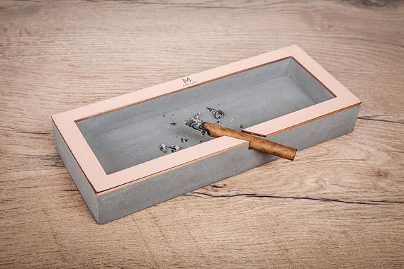 Cigar Ashtray Concrete Ash Tray 7th Anniversary Gift Personalized Gift