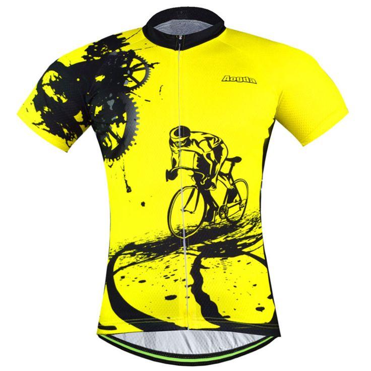 バイクチーム2015女性/男性黄色スパンデックスサイクリングジャージートップス/半袖バイク衣類夏スタイル