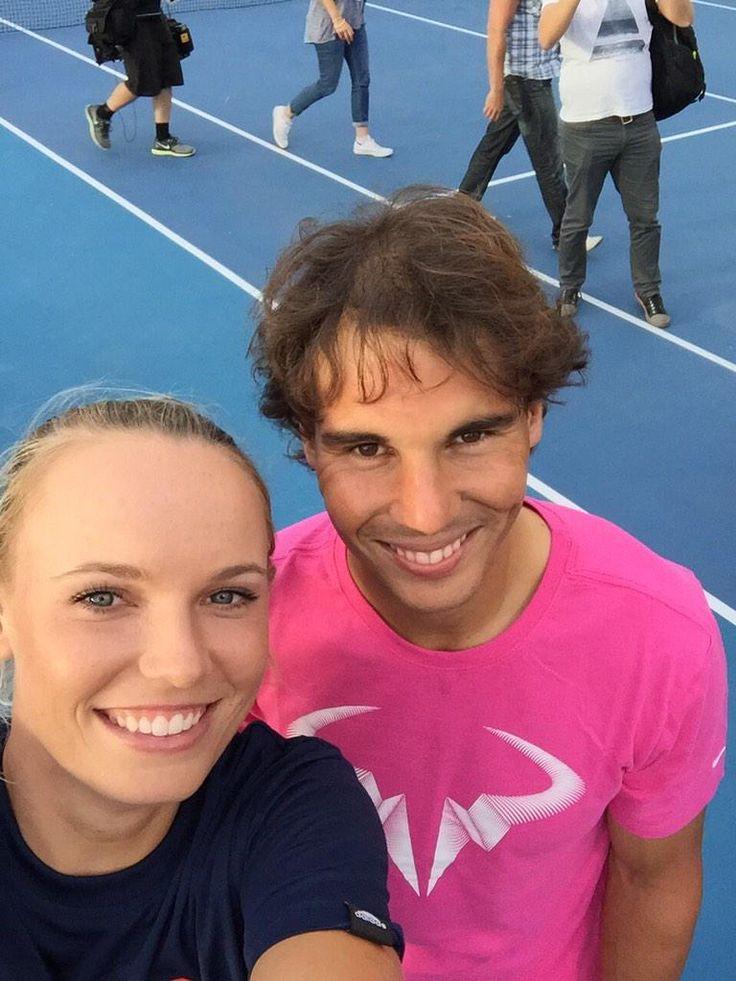 Caroline #Wozniacki and Rafael #Nadal take a pre-Australian Open selfie