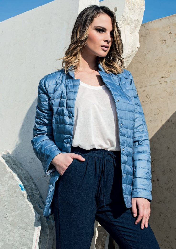 Eider-down Linda's mod.5004 - New Collection 2016. Follow us: www.lindas.it #jacket #eiderdowns #downjacket #women #curvy #girl #newcollection #spring #summer #fashion #fashionstyle #italianstyle #fashionwoman #jackets #musthave #pinterest #followus