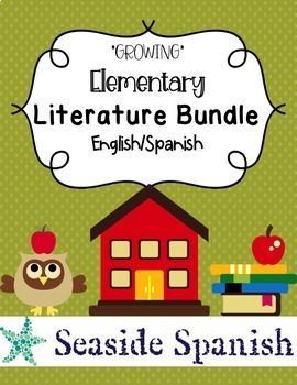 Growing Bilingual Spanish and English Elementary Literature Mega Bundle Are you looking for an easy way to incorporate more books into your bilingual Elementary School or Elementary Spanish Classroom? Look no further! This product includes tons of activities to go along with quality bilingual Spanish/English literature that you can read in your