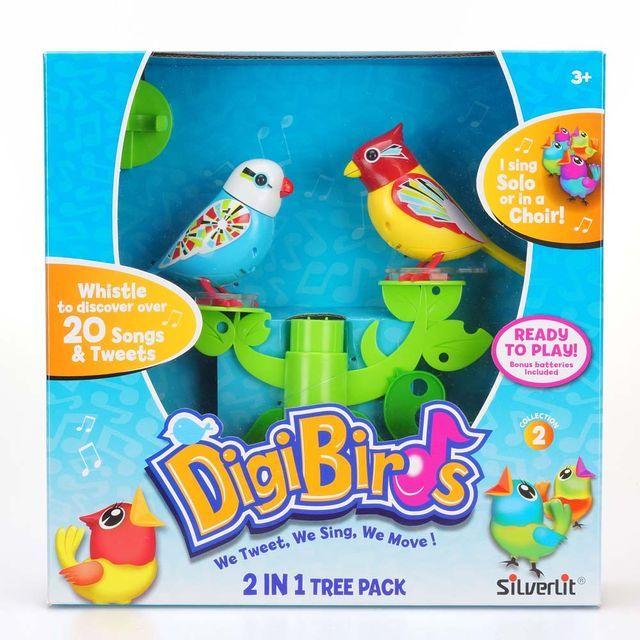 Poze Set stand in forma de copac si doua pasari interactive DigiBirds - varianta B