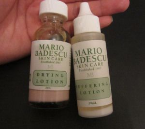 Mario Badescu drying and buffering lotions. They have been my life savers for me crazy breakout!
