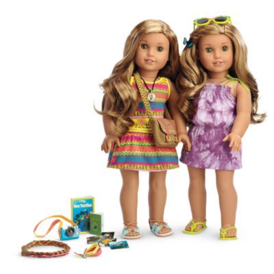 Lea's Exclusive Collection - Bring Lea home in this bundled starter set—featuring Lea's Beach Dress, available only in this collection! Includes:     Lea™ Doll & Book     Lea's Accessories     A tie-dye-print dress with bows at the shoulders     Green flip-flop sandals     Matching sunglasses     A pretty butterfly hair clip Z