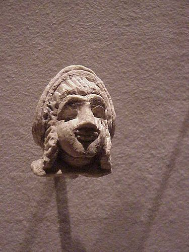 Head of a Votive Statue Sumerian Early dynastic II Period  ancient Mesopotamia