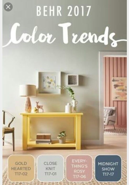 Behr trends, rosy color