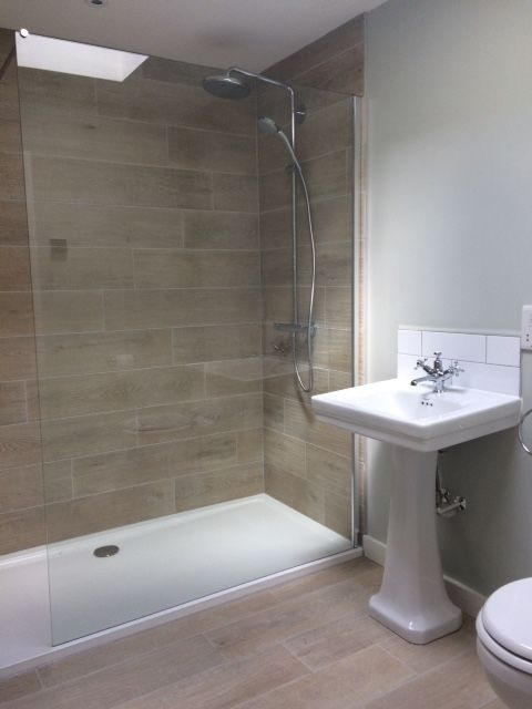 We Love Our Nordic Oak Wood Effect Porcelain On The Walls And Floor Of This  Bathroom