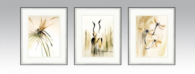 Transient Series in a silver frame and light double passe-partout (Option1).