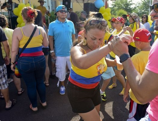 Luz Reinoso of Mohnton dances Sunday at the Second Annual Colombian Independence Day Festival at the Crowne Plaza Reading, Wyomissing.| Reading Eagle - NEWS #Wyomissing #Colombia #Colombian #colombian-independence-day #independece-day