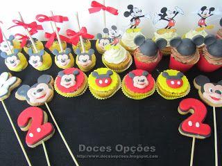 Doces Opções: O Mickey no segundo aniversário do Guilherme