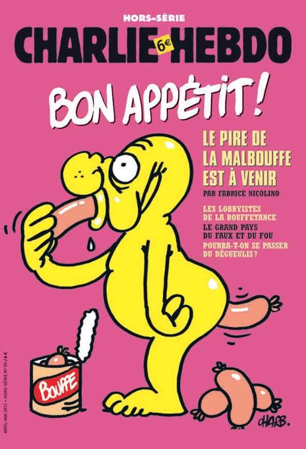 Charlie Hebdo - Hors Série # 35 - # 9 - Bon Appétit - Avril 2013 - Couverture : Charb