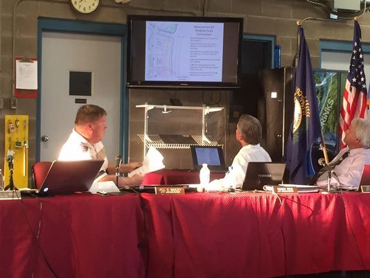 UDF welcome, zoning changes are not. Photo: Phil Peace, left, makes a presentation to the city of Taylor Mill regarding text amendment changes for the DTM 2 zone. Melissa Stewart/The Community Recorder