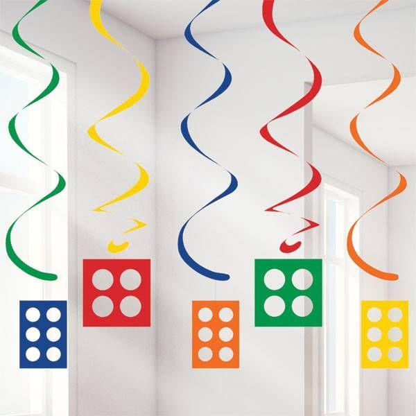 Blokken Hangdecoraties voor een Lego feestje | Hieppp - Hieppp