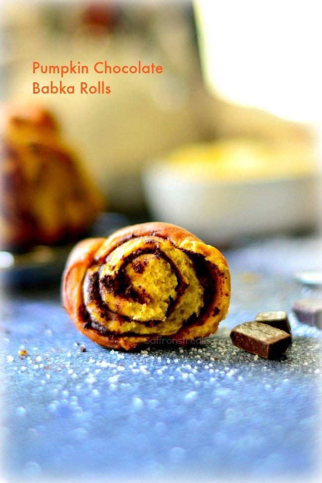 pumpkin chocolate babka cinnamon rolls