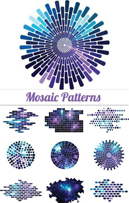 Easy Mosaic Ideas | Mosaic Vector Patterns