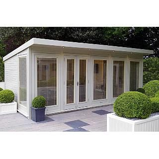 20 ft x 10 ft £7400 The Malvern Hanley is a fully double glazed and insulated garden office available from GBC.