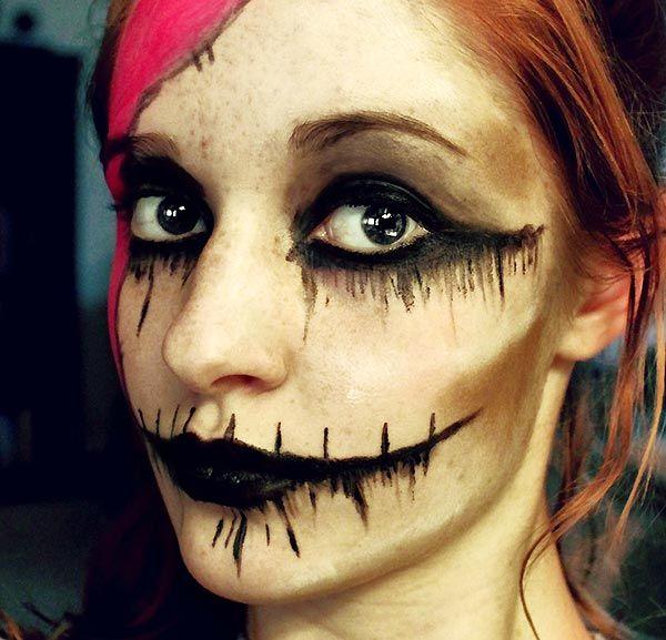 Макияж на хэллоуин: фото эффектных идей, как сделать самой + видео