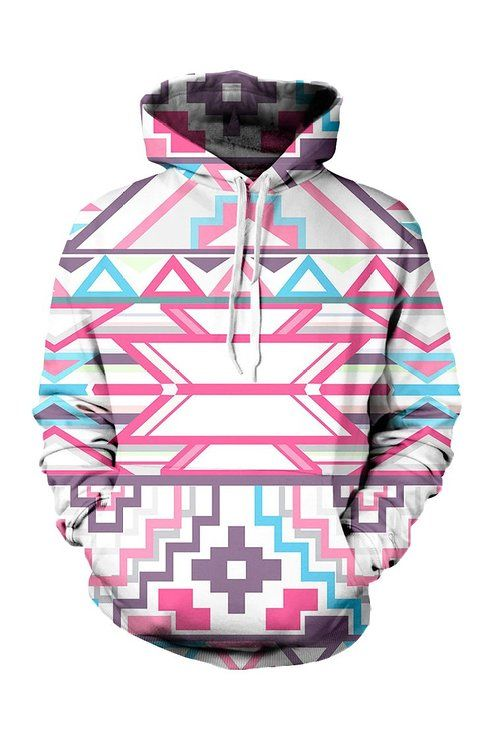 Cutiefox® Unisex 3D Digital Print Pullover Sweater Sweatshirt Fleece Hooded