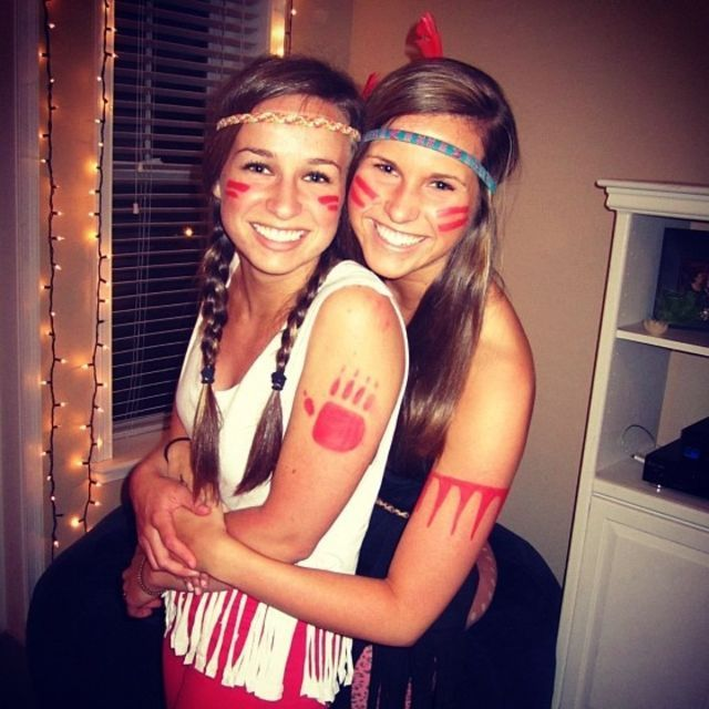 Indian for halloween:                                                                                                                                                     More