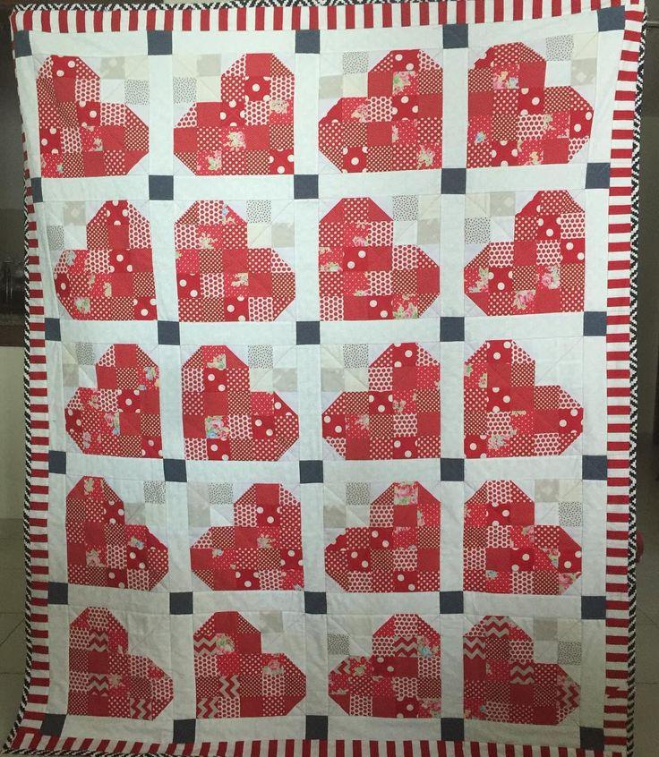 A complete layout for the lap-quilt #quiltsofinstagram #quiltblocks #redandwhite #valentines #heartquilt #heartshape #quilting #quilt #msqcshowandtell #lapquilt #scrappyquilt #sewing #sewinglove #dubai #dubaicraft #pattern #throws #mydubai #stitches #stitching #quiltmarket #patchwork #patchworkparty #patchworkquilt #cozy  #couch #quiltlove #patternlove #quiltshop #quiltingfabrics