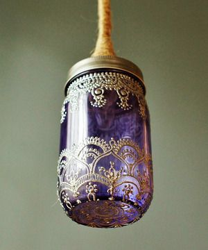 Thinking You Could Make This From A Mason Jar Paint The Inside