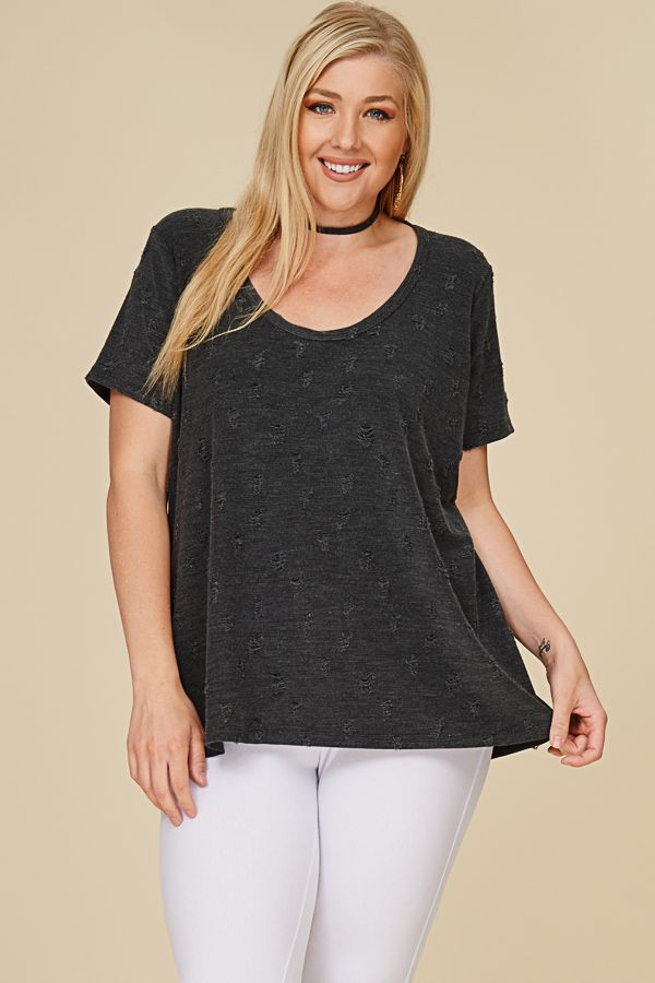 DISTRESSED TOP
