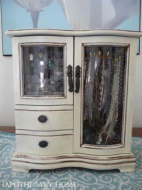 Jewelry Box redo, I would like to do this to my old cheesy jewelry box