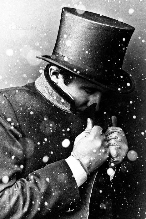 magical.: Christmas Cards, Winter Snow, Black Ties, White Ties, Old Fashion Christmas, Black White Photography, White Christmas, Winter Hats, Tops Hats