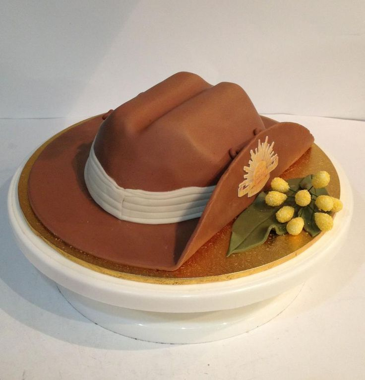 Australian army slouch hat cake (Remembrance day or Anzac day)