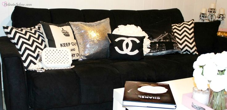 Chanel inspired living room, if I ever live with hg's again... This is a MUST!