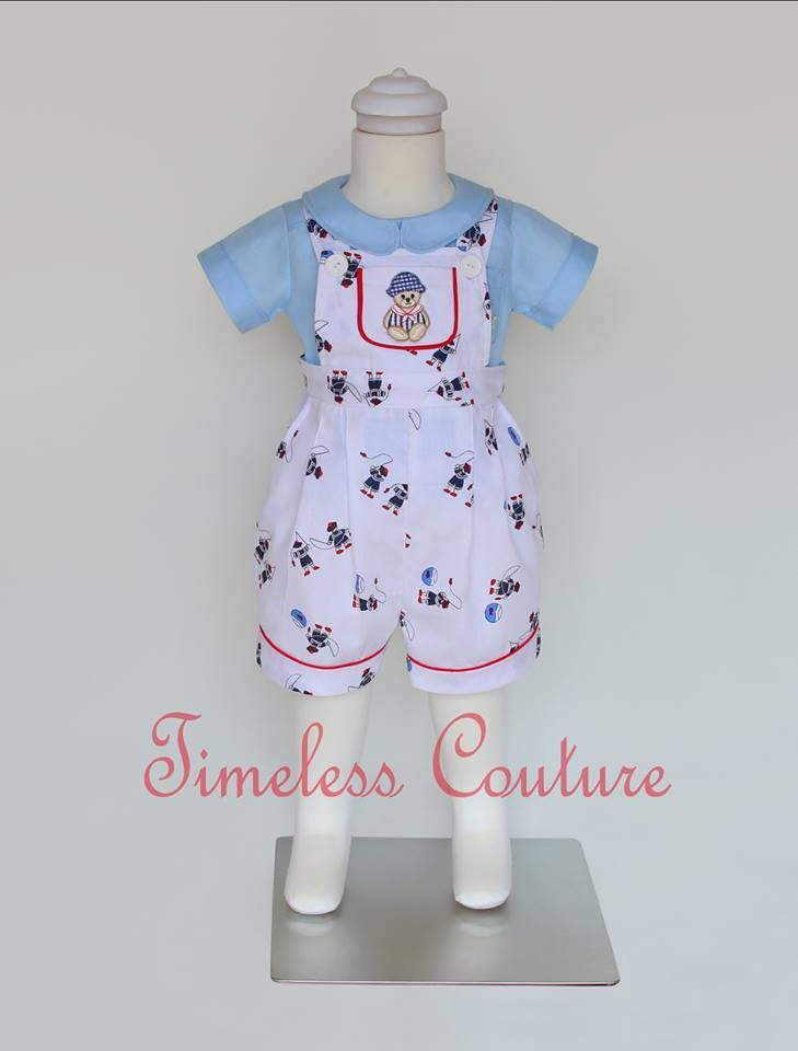 baby overall in soft fabric and printed cotton  a.b.timelesscouture@gmail.com  www.facebook.com/a.b.timelesscouture