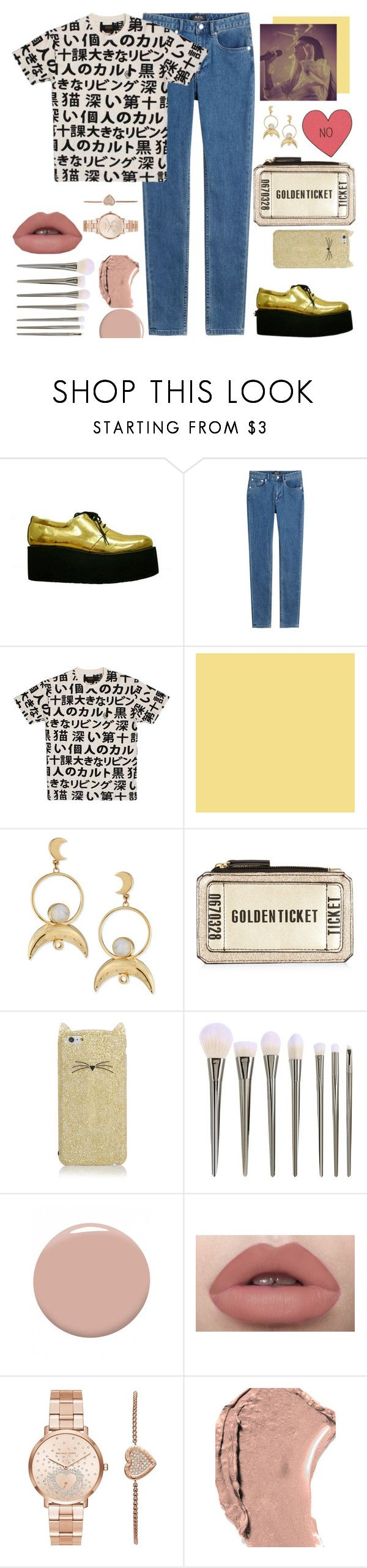 """""""play date//Melanie Martinez"""" by gb041112 ❤ liked on Polyvore featuring A.P.C., 10.Deep, Pamela Love, Kate Spade, Christian Louboutin, Michael Kors and Dolce&Gabbana"""