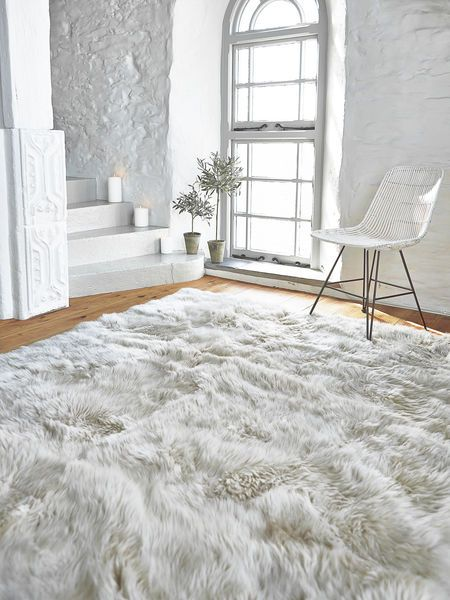 Luxurious Xl Sheepskin Rug Linen