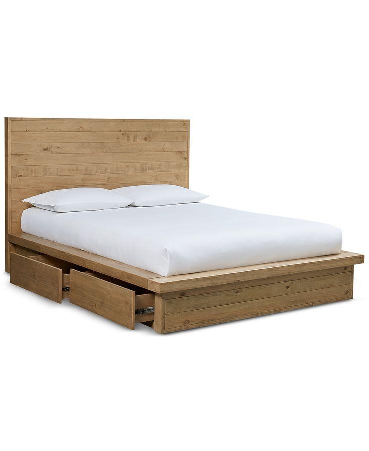 Abilene Solid Pine Storage Platform Bedroom Furniture