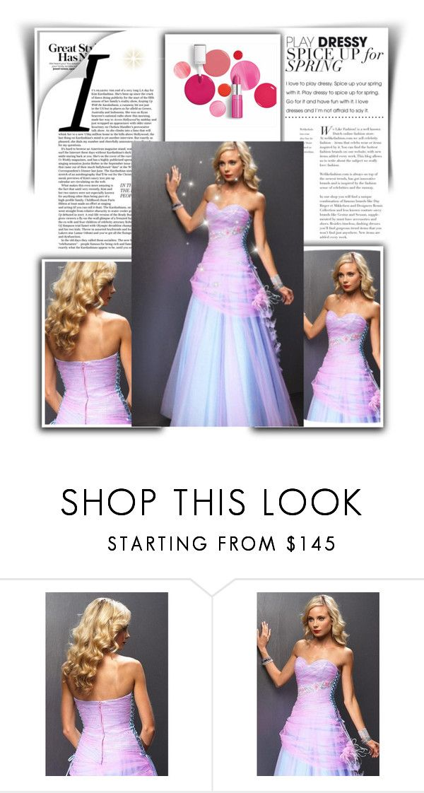 Pink Long Prom DresseS by johnnymuller on Polyvore featuring Clinique