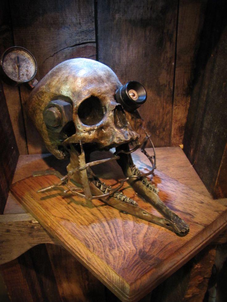 Steampunk skull -experiment 68 by demskicreations on deviantART