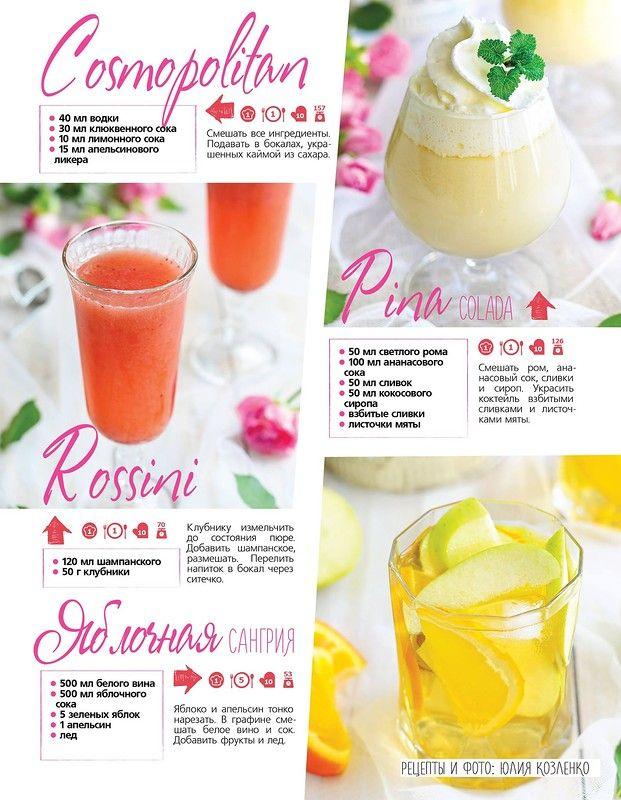 Пять вкусных и в меру алкогольных сочетаний! :))) Для всех коктейлей количество ингредиентов дано на одну порцию, кроме рецепта сангрии, которая рассчитана на один…