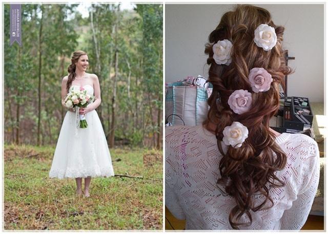 beautiful bridal hair idea: hair by Robyn Bowles. Photography: Adrian Shields