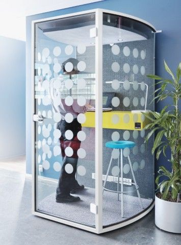 Barrel Phone Booth by Martela - The Solution for the Perfect Quiet Phone Call in a Busy Office?