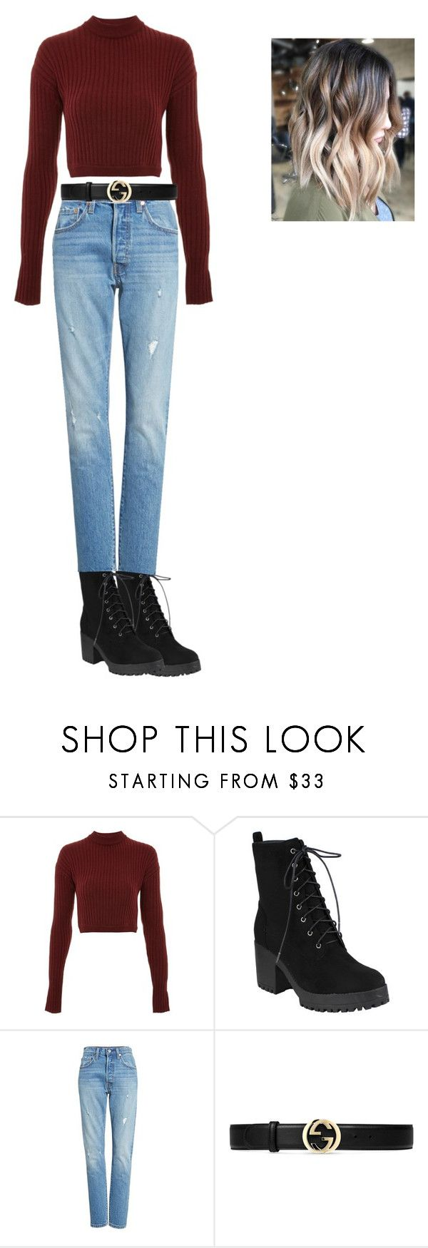 """""""2"""" by idatherese04 on Polyvore featuring beauty, WYLDR, Levi's and Gucci"""