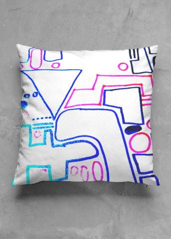 In the city - luxury pillow design by Charles Bridge 7x - buy in my VIDA e-shop    #luxurious#pillow#interior#interiordecor#art#artprint#fabricprint#sofa#spring#ocean#oceaninspiration#waves#water#waterart#artist
