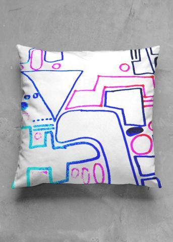 In the city - luxury pillow design by Charles Bridge 7x - buy in my VIDA e-shop    #luxurious#pillow#interior#interiordecor#art#artprint#fabricprint#sofa#spring#ocean#oceaninspiration#waves#water#waterart#artist