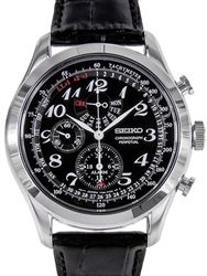 Seiko Chronograph, Alarm Watch with Perpetual Calendar and 44.6mm Stainless Steel Case #SPC131P1