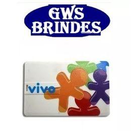 Temos pen card personalizado com memória de 4 gb, 8 gb e 16 gb. A impressão é digital U.V e pode ser em qualquer cor, inclusive usando seu logo e imagens.